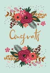 Floral Congrats - Printable Congratulations Card