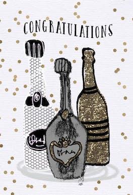 Libations - Wedding Congratulations Card