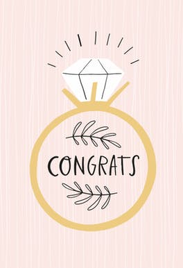 Nice Ring to It - Congratulations Card