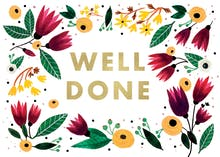 Well done - Congratulations Card