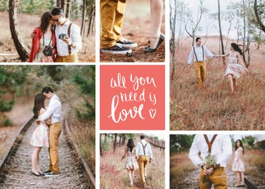 All You Need Is Love - Tarjeta Para Imprimir