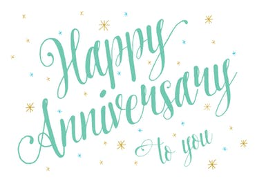 Anniversary Script - Happy Anniversary Card
