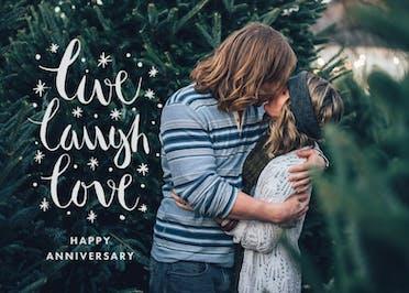 Live Laugh Love - Happy Anniversary Card