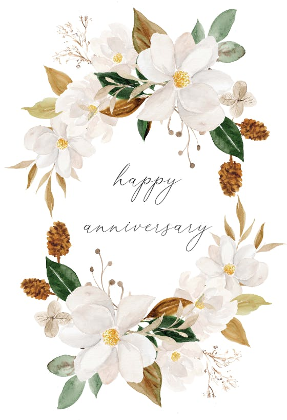 on your wedding anniversary card