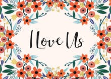 Orange Floral - Love Card