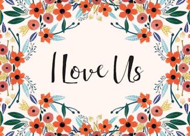 Orange Floral - Love Card