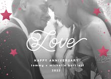 Stars of Love - Anniversary eCard