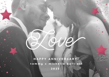 Stars of Love - Anniversary eCard
