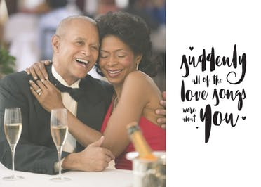 The Love Songs - Happy Anniversary Card