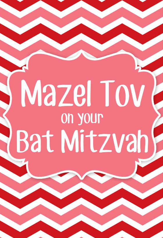on your bat mitzvah