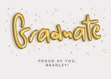 Balloons for You - Graduation Congratulations Card