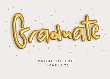 Balloons for You - Graduation Card