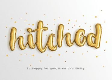 Balloons for Two - Wedding Congratulations Card