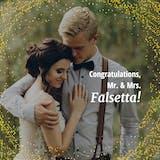 Blushing Bride - Wedding Congratulations Card