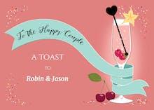 Celebration Sash - Wedding Congratulations Card