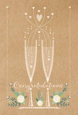 Flute Duet - Congratulations Card