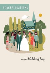 Gathered Together - Wedding Congratulations Card