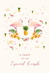 Pink Pair - Wedding Congratulations Card