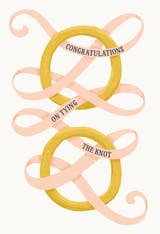 Tie the knot - Wedding Congratulations Card