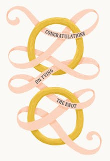 Tie the knot - Congratulations Card