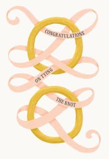 Tie the knot - Wedding Congratulations Card