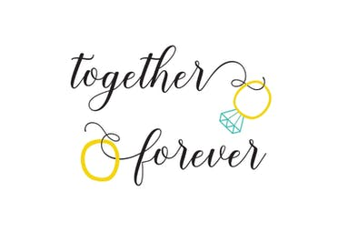 Together Forever - Wedding Congratulations Card