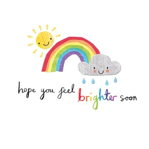 Brighter Days - Get Well Soon Card