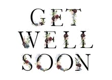 Floral Letters - Get Well Soon Card