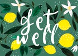 Lemons - Get Well Soon Card