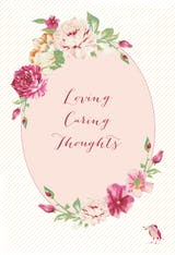 Loving Caring Thoughts - Tarjeta De Recupérate Pronto