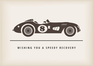 Road to Recovery - Get Well Soon Card