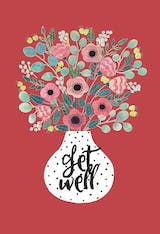 Vase - Get Well Soon Card