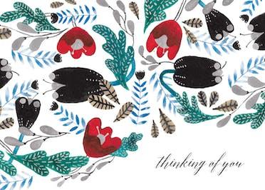 Winter Pattern - Get Well Soon Card