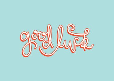 Lucky Graffiti - Good Luck Card
