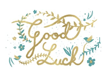 Natural Luck - Good Luck Card