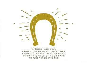 Path to Success - Good Luck Card