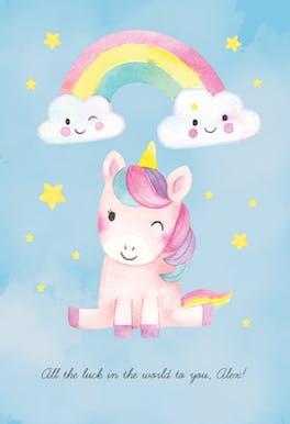 Unicorn Luck - Good Luck Card