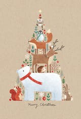 Animals in a tree shape - Christmas Card