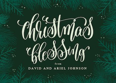 Christmas Blessing - Christmas Card