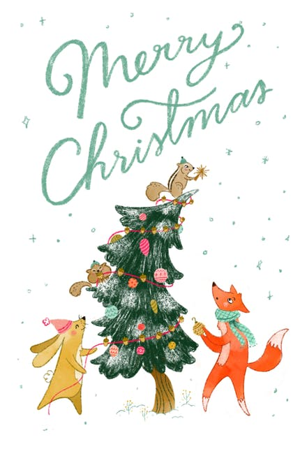 Christmas Critters Christmas Card Greetings Island