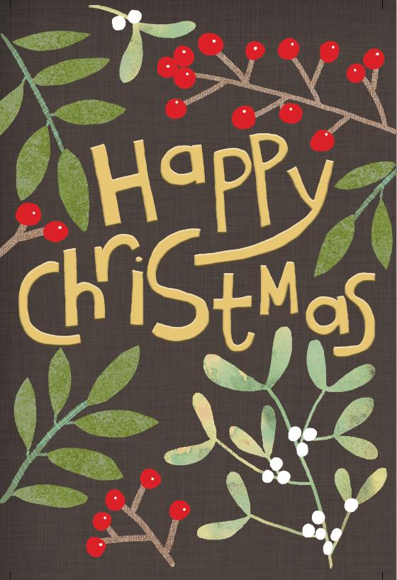 Christmas foliage Christmas Card Free Greetings Island