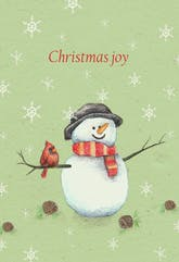 Snowman Joy - Christmas Card