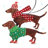 Dogs in sweaters - Christmas Card