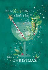 Gin glass - Christmas Card