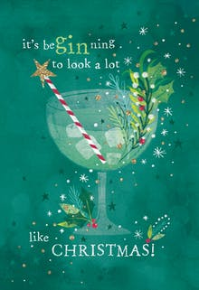 Gin glass - Tarjeta De Navidad