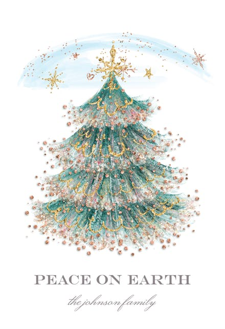 Glitter Tree - Christmas Card | Greetings Island