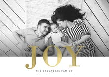 Joy is gold - Christmas Card