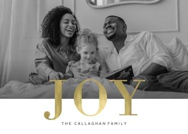 Joy is gold - Christmas Card