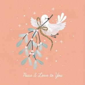 Peace & Love - Christmas Card
