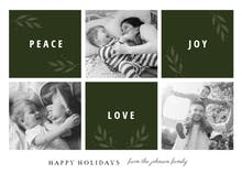 Peace Joy Love - Christmas Card
